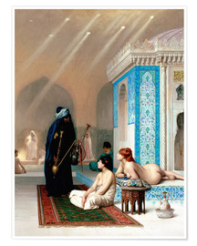Premiumposter Bath in the harem