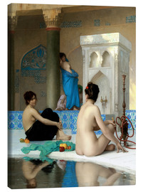 Canvastavla  After the Bath - Jean Leon Gerome