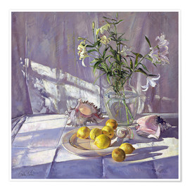 Premiumposter  Still Life Flowers and Lemons - Timothy Easton
