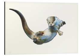 Aluminiumtavla  Floating Otter - Mark Adlington