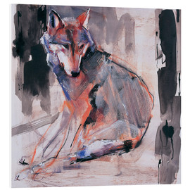 PVC-tavla  Sitting wolf - Mark Adlington