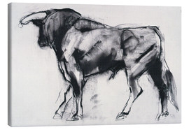 Canvastavla  Bull - Mark Adlington