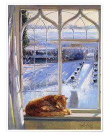 Premiumposter  Cat in the Window - Timothy Easton
