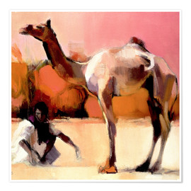 Premiumposter  Camel and cameleer - Mark Adlington