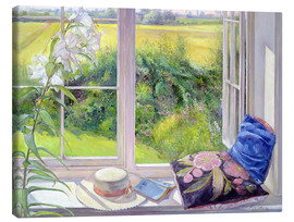 Canvastavla  Reading window seat - Timothy Easton
