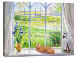 Canvastavla  Cats at the window - Timothy Easton