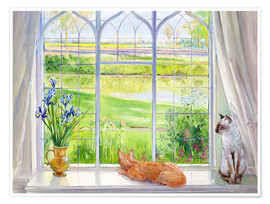 Premiumposter  Cats at the window - Timothy Easton