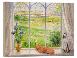 Trätavla  Cats at the window - Timothy Easton