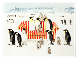 Premiumposter  Penguins on a sofa - E.B. Watts