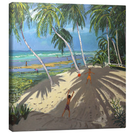 Canvastavla  Palm trees, Clovelly beach, Barbados - Andrew Macara