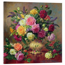 Akrylglastavla  Roses from a Victorian Garden - Albert Williams