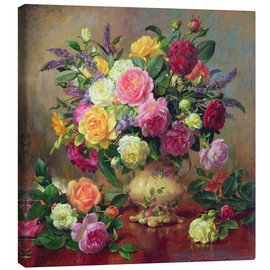 Canvastavla  Roses from a Victorian Garden - Albert Williams
