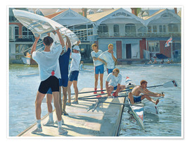 Premiumposter  Preparation for rowing - Timothy Easton