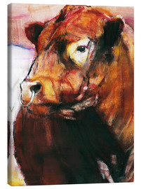 Canvastavla  portrait of a bull - Mark Adlington