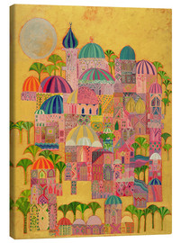 Canvastavla  The Golden City - Laila Shawa