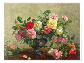Premiumposter Rose Bowl filled with Roses