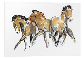 PVC-tavla  Herd of horses - Mark Adlington