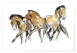Premiumposter  Herd of horses - Mark Adlington