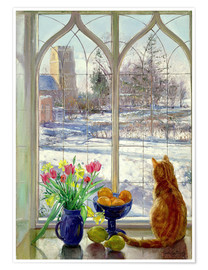 Premiumposter  Snow Shadows and Cat - Timothy Easton