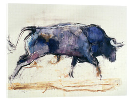 Akrylglastavla  Galloping bull - Mark Adlington