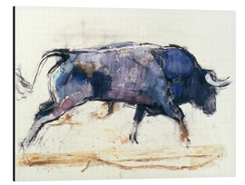 Aluminiumtavla  Galloping bull - Mark Adlington