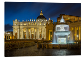 Akrylglastavla  Fountain at the St. Peters square Roma - FineArt Panorama