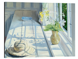 Aluminiumtavla  Still life in front of the window - Timothy Easton