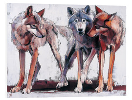 PVC-tavla  Pack of wolves - Mark Adlington