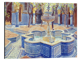 Aluminiumtavla  The blue fountain - Lucy Willis