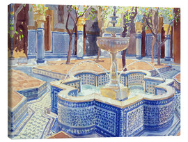 Canvastavla  The blue fountain - Lucy Willis