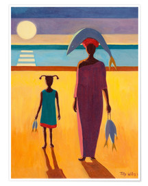 Premiumposter  Woman with Fish - Tilly Willis