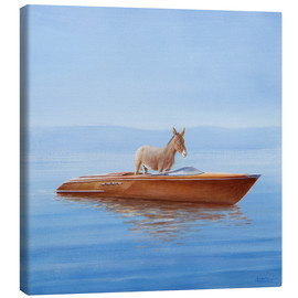 Canvastavla  Donkey in a boat - Lincoln Seligman