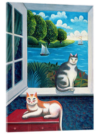 Akrylglastavla  Cats and Sea - Jerzy Marek