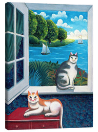 Canvastavla  Cats and Sea - Jerzy Marek
