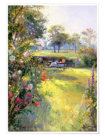 Poster  Reading in the Garden - Timothy Easton