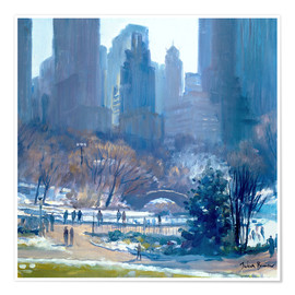 Premiumposter  Winter in Central Park, New York, 1997 - Julian Barrow