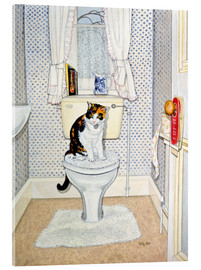 Akrylglastavla  Cat on the Loo - Ditz