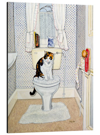 Aluminiumtavla  Cat on the Loo - Ditz