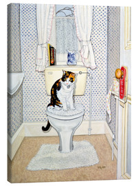 Canvastavla  Cat on the Loo - Ditz