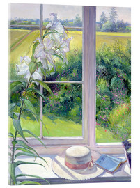Akrylglastavla  Reading corner in the window, detail - Timothy Easton