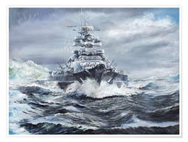 Premiumposter  Bismarck off the Greenland coast - Vincent Alexander Booth