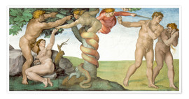 Premiumposter  Sistine Chapel: The Fall and the Expulsion from Paradise - Michelangelo