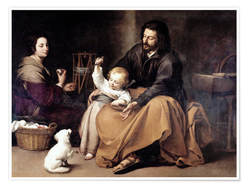 Premiumposter The Holy Family with the Little Bird