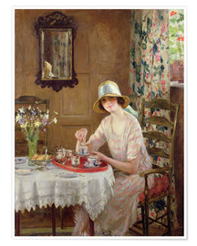 Premiumposter  Afternoon tea - William Henry Margetson