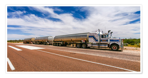 Premiumposter Road Train Australia