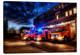 Canvastavla  German fire trucks - Markus Will