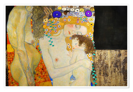Premiumposter  The Three Ages of Woman (Detail) - Gustav Klimt