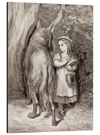 Aluminiumtavla  Scene From Little Red Riding Hood By Charles Perrault - Gustave Doré
