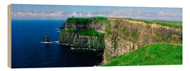 Trätavla  Cliffs of Moher - The Irish Image Collection