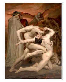Premiumposter  Dante and Virgile - William Adolphe Bouguereau